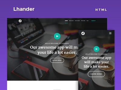 Lhander - Free Landing Page Website Template