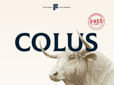 Colus Free Display Font