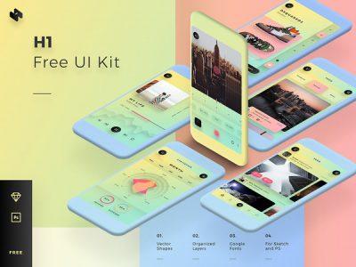 H1 Free Mobile UI Kit