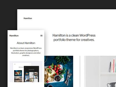 Hamilton: A Free WordPress Portfolio Theme for Creatives
