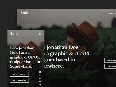 Hola: A Modern vCard Free HTML Website Template