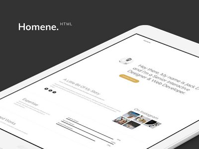 Homene Free HTML Website Template