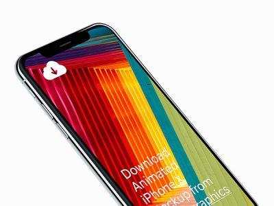 4k Resolution Free iPhone X Mockups