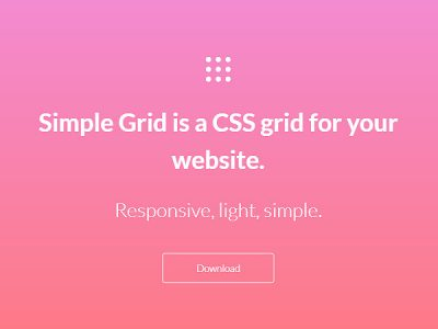 Simple Grid: Lightweight and Responsive CSS Grid