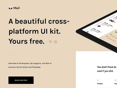 Mail - Free UI Kit For Sketch and Photoshop