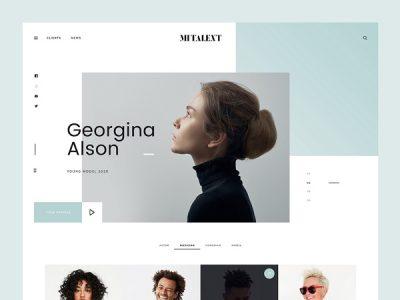 MI Talent - Free PSD Website Template for Agencies