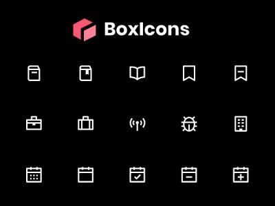 BoxIcons: High-Quality Web Friendly Free Icons