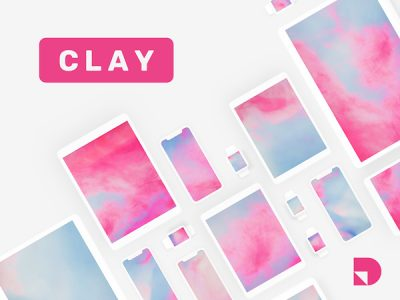 Clay - a Free Minimalist Mockup Kit for Apple Devices