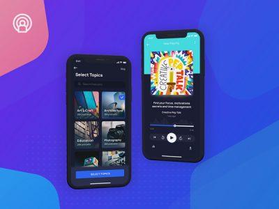 Podzie - Podcast App Free UI Kit