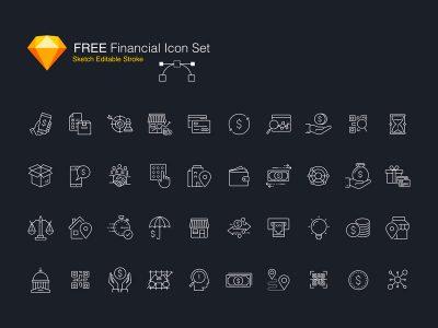 Free Financial Icon Set