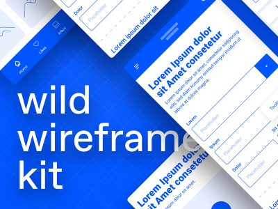 Wild Wireframe Kit Freebie