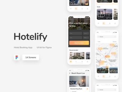 Hotelify - Free Hotel Booking App UI Kit