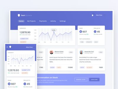 Crypto Dashboard UI Freebie