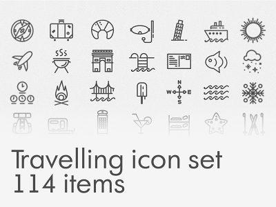 Travelling Free Icon Set