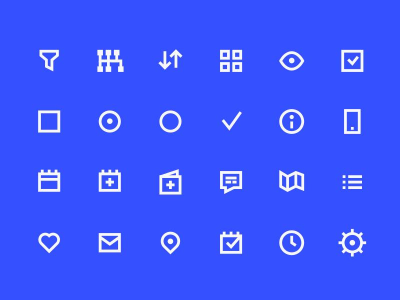 98 UI Pixel Perfect Free Icons Set