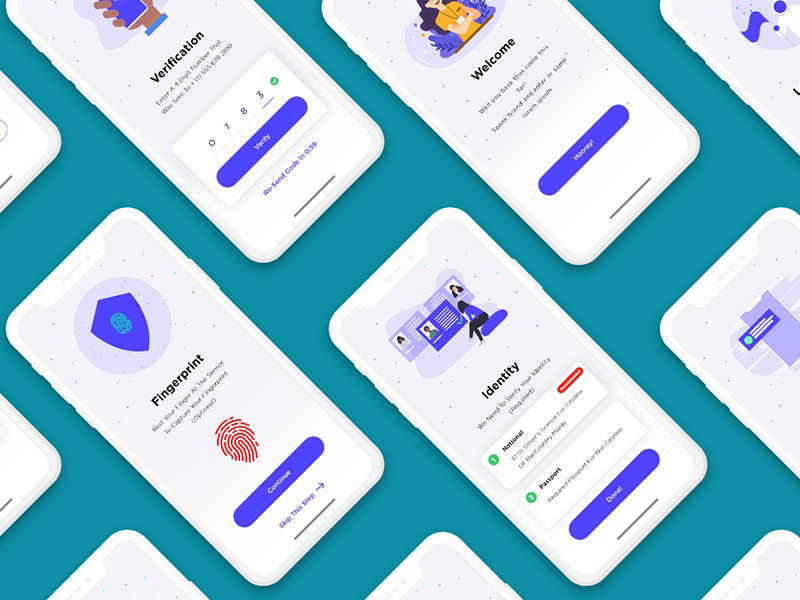 Onboarding Screens Free UI Kit