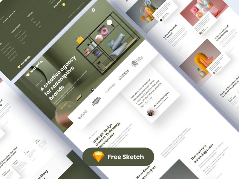 Webovio — Creative Agency Free Landing Page