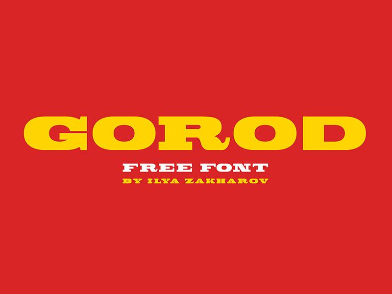 Gorod — Bold Slab Serif Free Font
