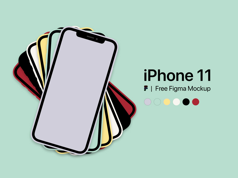 Simple iPhone 11 Mockup for Figma