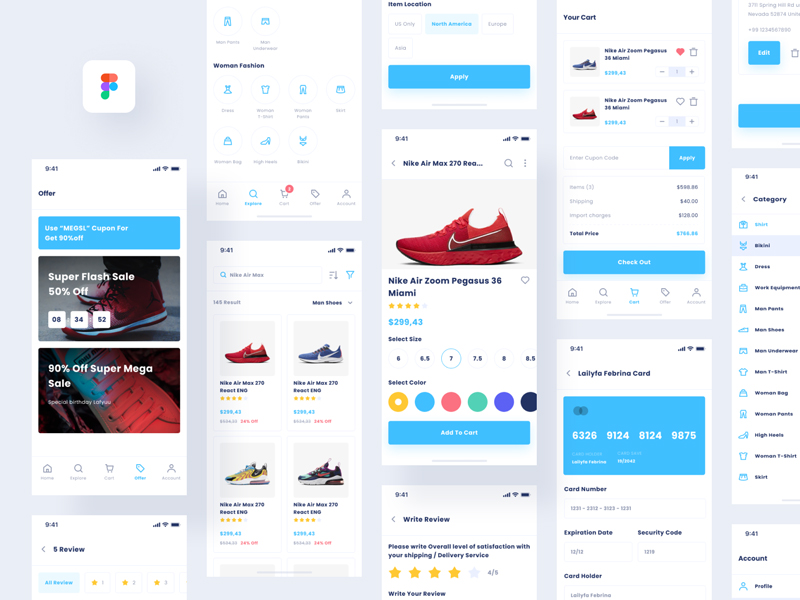 Lafyuu Free E-commerce UI Kit for Figma