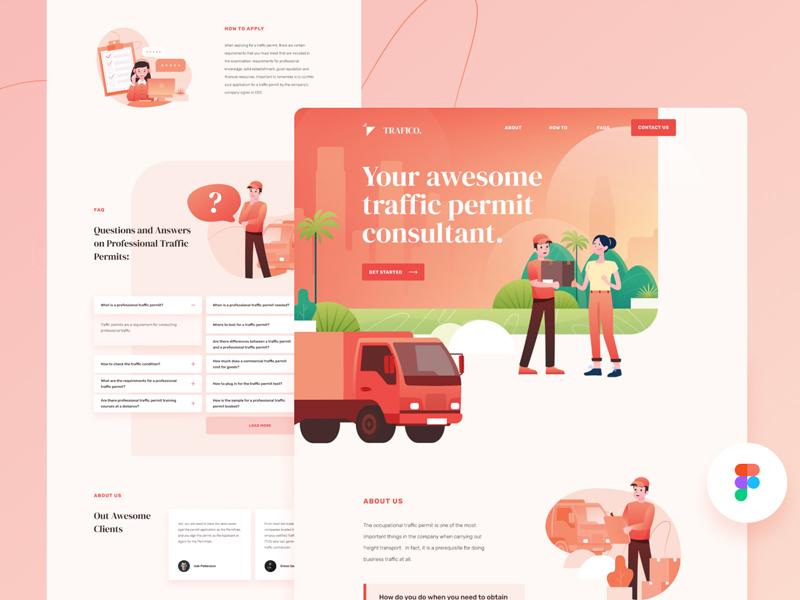 Traffico — Free Landing Page