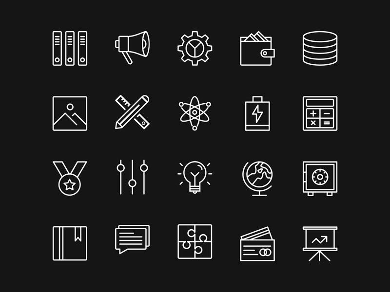100+ UI Free Icons Set