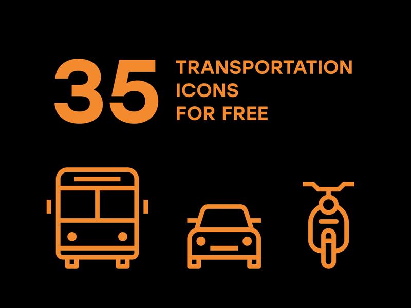 35 Free Transportation Icons