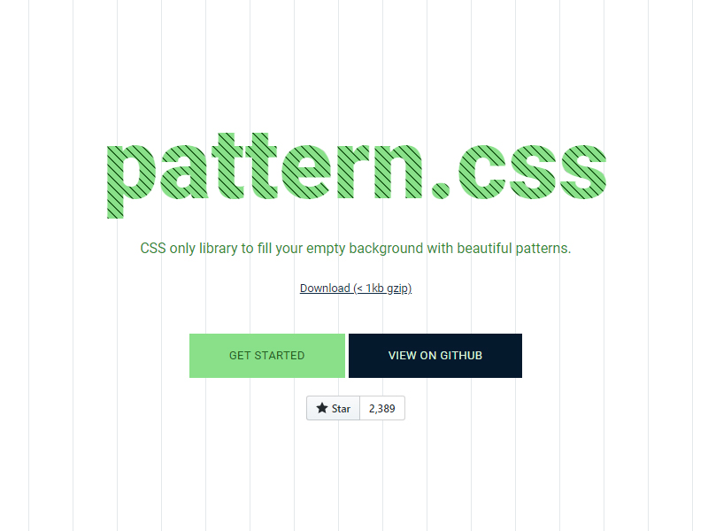 Pattern.css - Background Patterns in CSS