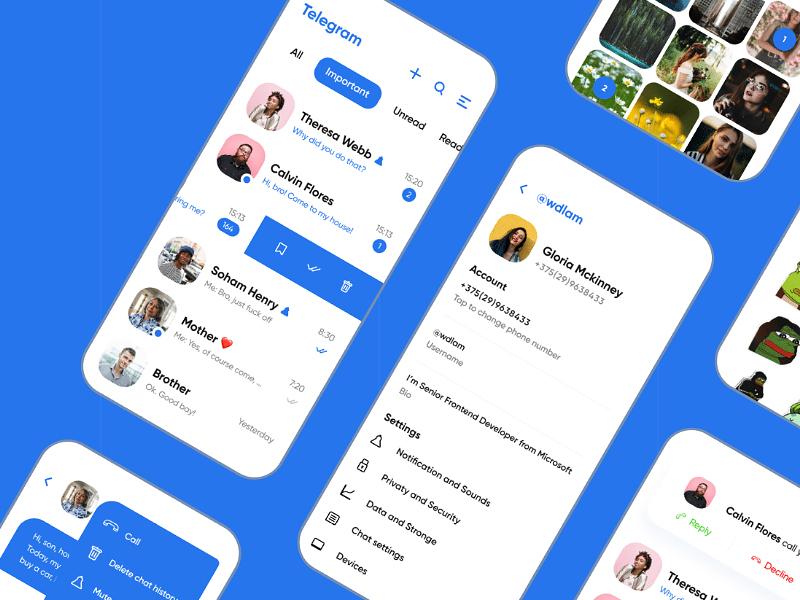 Telegram Redesign - Free UI Kit for Figma