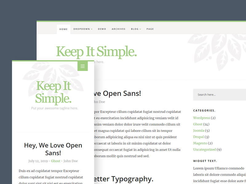 Keep It Simple — Free HTML Blog Template