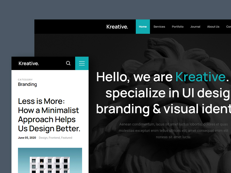 Kreative — Free HTML Agency Website Template