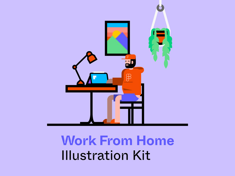 Work From Home Free Illustration Kit
