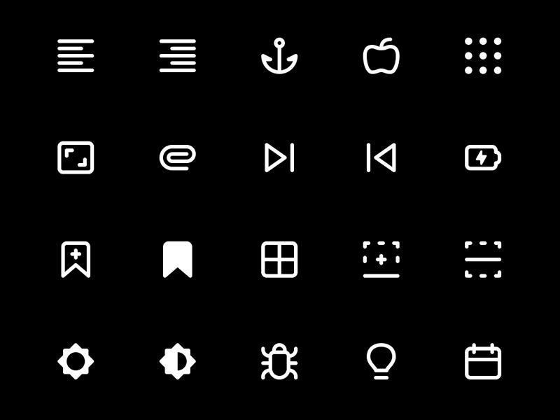 266 Icons for UI and Wireframes