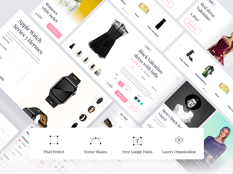 Clay Shop — E-commerce Free UI Kit
