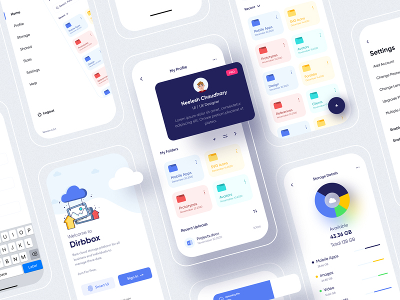 Dribbox — Online Cloud Storage UI Kit for Figma