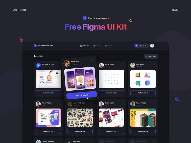 Web Service - Free UI Kit for Figma