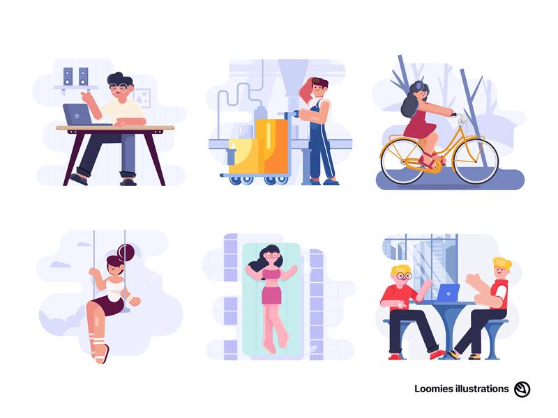 Loomies Free Illustrations