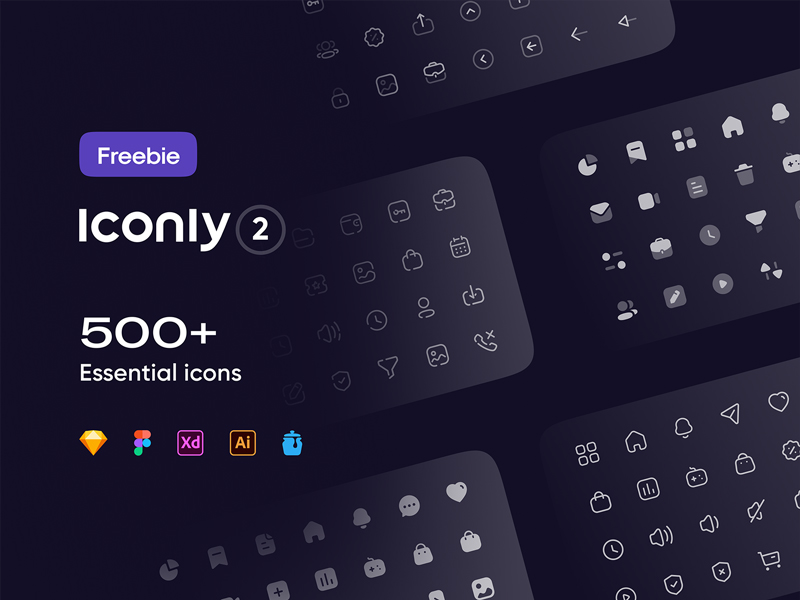 Iconly 2 - Essential Icons
