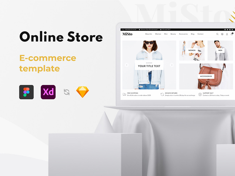 MiSto Free e-Commerce Website Template for Figma