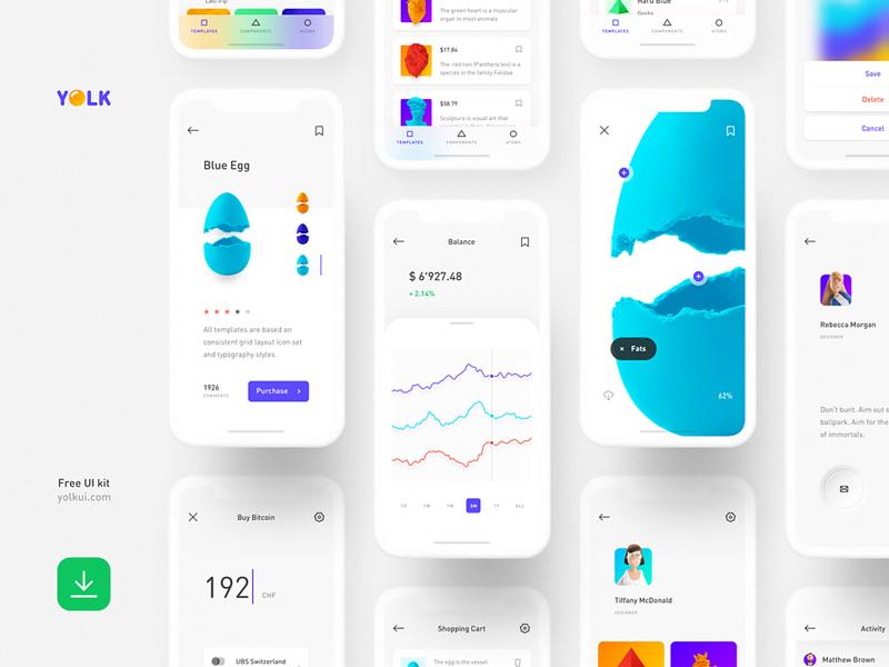 Yolk — Free iOS UI Kit