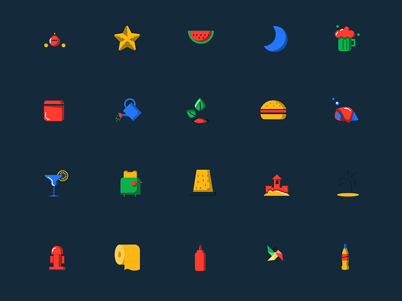 Blobs Icons - Free Colorful Icons