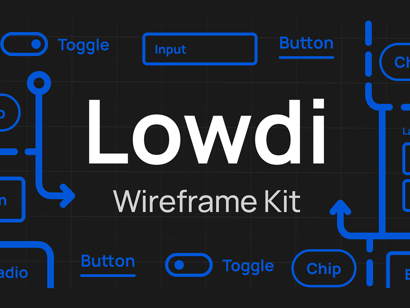 Lowdi — Free Wireframe Kit