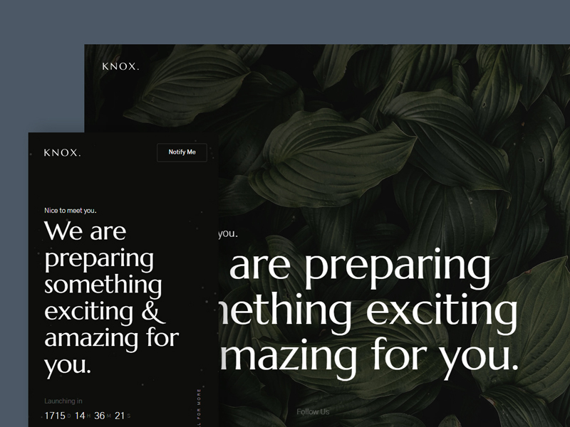 Knox — Free Coming Soon HTML Website Template.